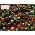Skleněné voskované perly Ø 4-12 mm 100 g - barevná sada mix 2