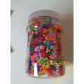 Plastové korálky srdce, kvítky, vrtule - barevný mix 2100 ks