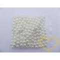 Bílé skleněné voskované perly Ø 8 mm 130 g