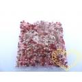 Skleněné korálky červený mix 3 mm - 50 g