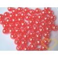 Meruňkové plastové korálky duha 8 mm - balení 50 g