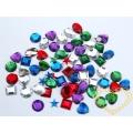 Barevné kamínky se samolepem - 150 ks