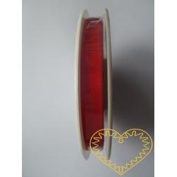 Stuha atlasová červená - š 1 cm, délka 1 m
