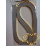 Zlaté papírové proužky na quilling - 100 ks