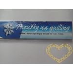 Bílomodré papírové proužky na quilling - 250 ks
