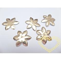 Zlaté kytičky 4 cm - papírové 10 ks