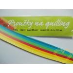 Barevné papírové proužky na quilling - 250 ks