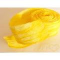 Žlutá stuha papírová batikovaná - šíře 7 cm, délka 10 metrů