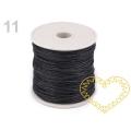 Černá bavlněná voskovaná šňůra průměr 1 mm - cca 20 m