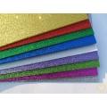 Pěnová guma třpytivá - moosgummi - barevný mix 10 ks