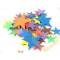 Hvězdy - pěnová guma - 24 ks