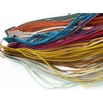 Kožená šňůrka / kožený řemínek - 20 ks jedné barvy