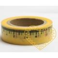 Žlutá lepící páska s centimetrovým měřítkem - 10 m