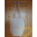 Silná bavlněná taška se sklady a dlouhými uchy