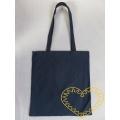 Plátěná taška s dlouhými uchy - tmavě modrá