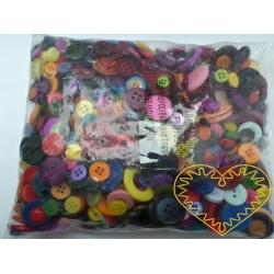 Knoflíky mix barev a tvarů - 500 g