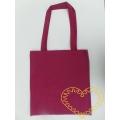 Plátěná taška s dlouhými uchy - barva claret
