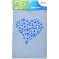 Plastová šablona - srdce s květy