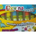 Fixy na textil - 6 kusů