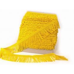 Třásně žluté kroucené šíře 60 mm - 1 m