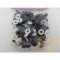 Zvířecí černé kulaté oči - 12 mm - 50 ks