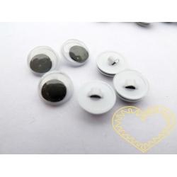 Plastové oči kulaté ø 10 mm s očkem k přišití - 100 ks