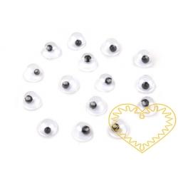 Pohyblivé oči kulaté ø 4 mm - 5 g (cca 80 ks)