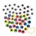 Pohyblivé oči mix barev - ø 15 mm - 300 kusů