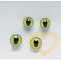 Zelené kočičí oči ø 14 mm - 2 ks