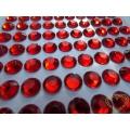 Červené nalepovací perličky  ø 8 mm 140 ks