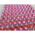 Sytě růžové nalepovací perličky ø 8 mm 140 ks