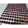 Tmavě fialové mléčné nalepovací perličky  ø 6 mm 260 ks