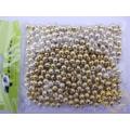 Zlaté plastové korálky 6 mm - 50 g