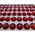 Červené nalepovací perličky ø 6 mm 260 ks