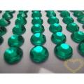 Tmavě zelené nalepovací perličky  ø 6 mm 140 ks