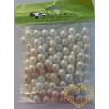 Smetanové plastové perličky 8 mm - 50 g
