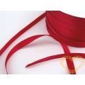 Stuha atlasová červená - šíře 5 mm - 1 m