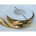 Zlatá lesklá textilní stuha - šíře 2,5 cm, délka 25 m