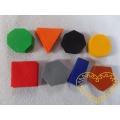 Geometrické tvary z plsti - barevný mix 32 ks