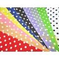 Plsť s puntíky - filc dekorační - sada 10 barev