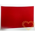 Tmavě červená samolepící plsť - 30 x 20 cm