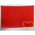Červená samolepící plsť - 30 x 20 cm