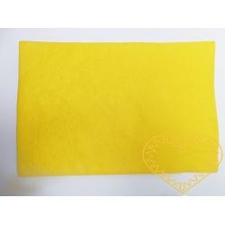Žlutá plsť - dekorační filc 30 x 20 cm - 1 ks