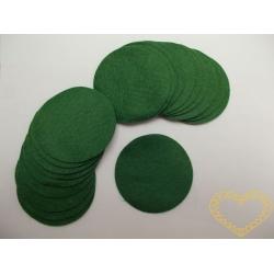 Zelená plstěná kolečka ø 6 cm - 20 ks