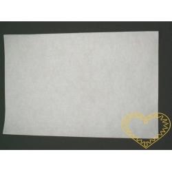 Bílá samolepící plsť - 30 x 20 cm