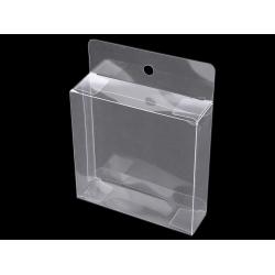 Plastová krabička k zavěšení 10 x 10 x 3 cm