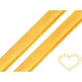Paspulka bavlněná žlutá - šíře 12 mm