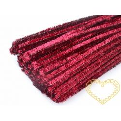 Modelovací chlupatý drátek metalický červený - 100 ks