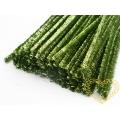 Modelovací chlupatý drátek metalický zelený - 100 ks