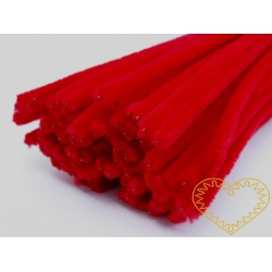 Modelovací chlupatý drátek červený
